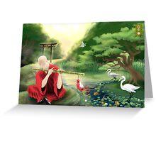 Oriental Serenity Greeting Card