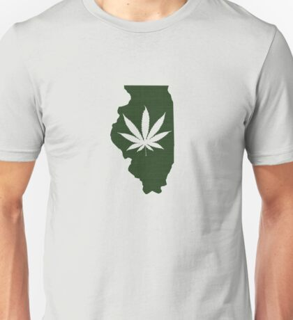 Marijuana Leaf Illinois Unisex T-Shirt