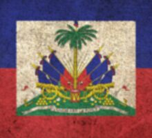Old and Worn Distressed Vintage Flag of Haiti Sticker