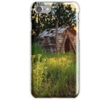 Old Cabin At Sunset iPhone Case/Skin