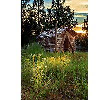 Old Cabin At Sunset Photographic Print