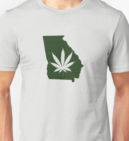 Marijuana Leaf Georgia Unisex T-Shirt