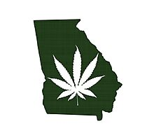 Marijuana Leaf Georgia Photographic Print