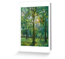 Emerald Twilight Greeting Card