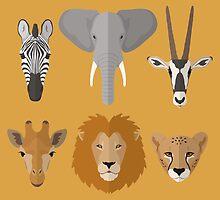 African Animals by KingdomofArt