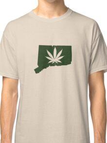 Marijuana Leaf Connecticut Classic T-Shirt