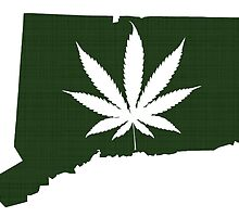 Marijuana Leaf Connecticut by surgedesigns