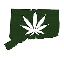 Marijuana Leaf Connecticut Photographic Print