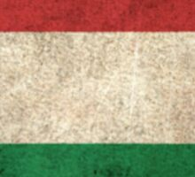 Old and Worn Distressed Vintage Flag of Hungary Sticker