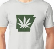 Marijuana Leaf Arkansas Unisex T-Shirt