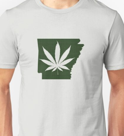 Marijuana Leaf Arkansas Unisex T-Shirt
