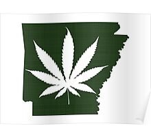 Marijuana Leaf Arkansas Poster
