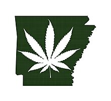 Marijuana Leaf Arkansas Photographic Print