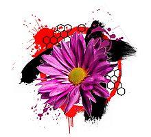 Digital Art Abstract Flower Photographic Print