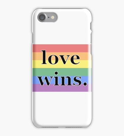 love wins. iPhone Case/Skin