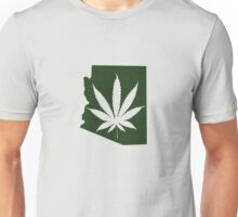 Marijuana Leaf Arizona Unisex T-Shirt