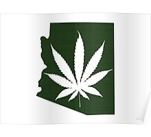 Marijuana Leaf Arizona Poster
