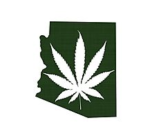 Marijuana Leaf Arizona Photographic Print