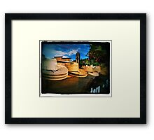 Reflections Of Estes Park Framed Print