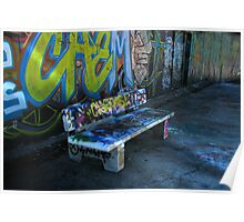 Bench Press - read all about it! (on close inspection - 6/8) Poster