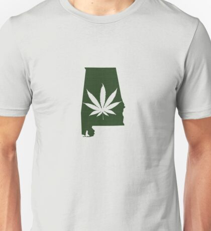 Marijuana Leaf Alabama Unisex T-Shirt