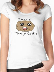 I'm tougher than I look! :B Women's Fitted Scoop T-Shirt