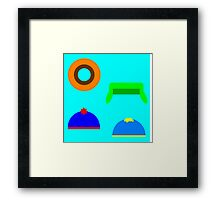 South Park Minimalist Framed Print