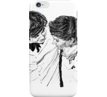 Larry hugging iPhone Case/Skin