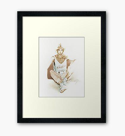 """Active"" by Sara Moon Framed Print"