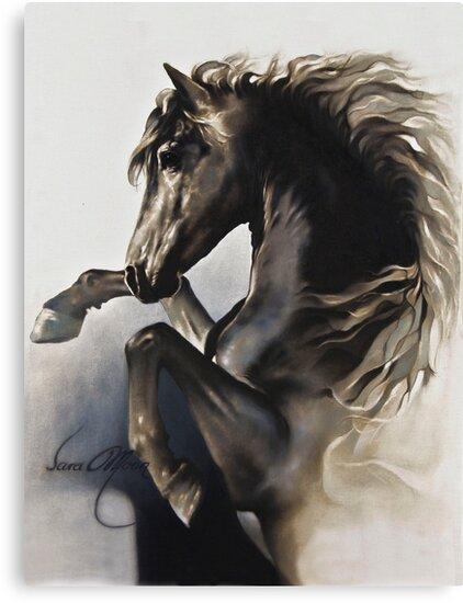 """Black Fury"" Painting in Oils by Sara Moon"