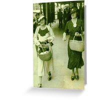 A step ahead for a bargain - 1935 Greeting Card