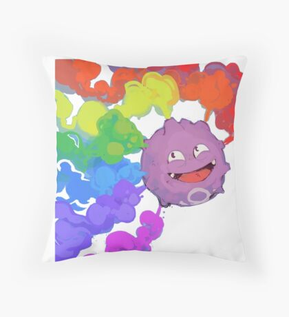 Koffing supports equality Throw Pillow