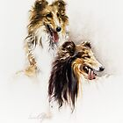 """""""Friends"""" Painting in Oils by Sara Moon"""