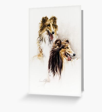 """""""Friends"""" Painting in Oils Greeting Card"""