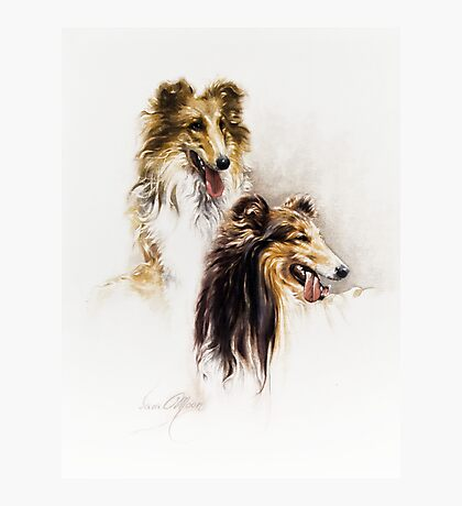 """""""Friends"""" Painting in Oils Photographic Print"""