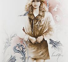 """German Girl"" Painting in Oils by Sara Moon"
