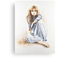 """Hippy Girl"" Painting in Oils Canvas Print"