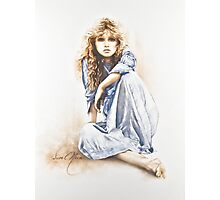 """Hippy Girl"" Painting in Oils Photographic Print"