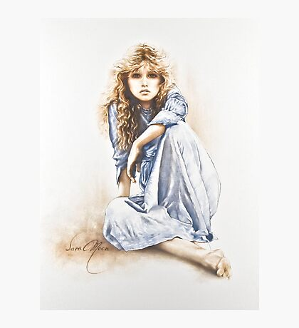 """""""Hippy Girl"""" Painting in Oils Photographic Print"""