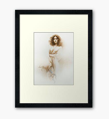 """Mercedes"" Painting in Oils Framed Print"