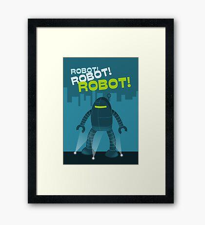 Robot! Robot! Robot! Framed Print