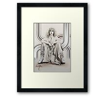 """Natascha"" Painting in Oils Framed Print"