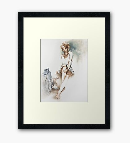 """""""Relaxed"""" Painting in Oils Framed Print"""