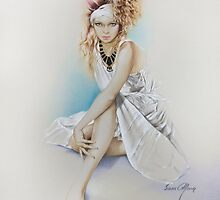 """""""Silvie"""" Painting in Oils by Sara Moon"""