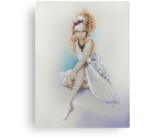 """""""Silvie"""" Painting in Oils Canvas Print"""