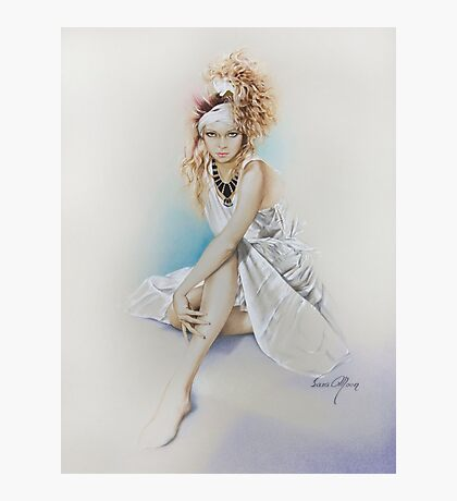 """""""Silvie"""" Painting in Oils Photographic Print"""