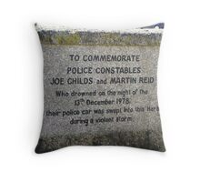 """"""" This gives an idea of the power of the storms"""" Throw Pillow"""
