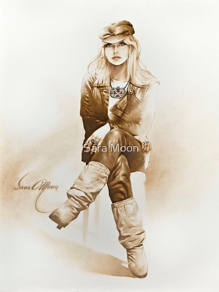 """Rocker Girl"" Painting in Oils by Sara Moon"