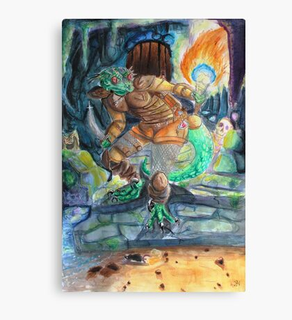 Elder Scrolls Oblivion: Argonian in the Cave Canvas Print
