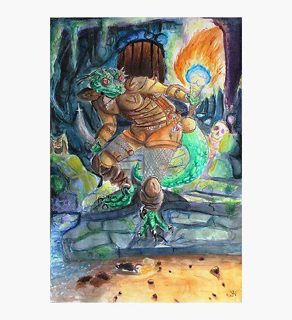 Elder Scrolls Oblivion: Argonian in the Cave Photographic Print